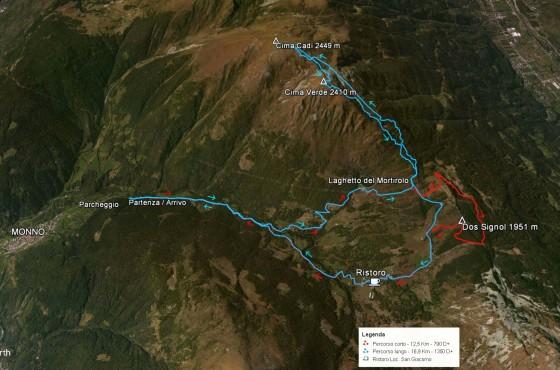 Il percorso 30° Raduno Scialpinistico del Mortirolo