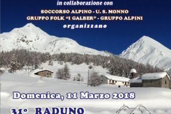 """31^ RADUNO SCI-ALPINISTICO DEL MORTIROLO e percorso con """"caspole"""""""