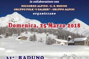 RINVIO 31^ RADUNO SCI-ALPINISTICO DEL MORTIROLO A DOMENICA 25.03.2018